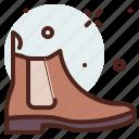 apparel, boots, chelsea, shop icon