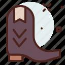 apparel, boots, cowboy, shop icon