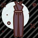 apparel, overalls, shop icon