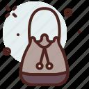 apparel, purse, round, shop icon