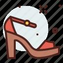 apparel, sandals, shop icon