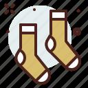 apparel, shop, socks icon