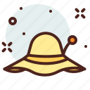 apparel, hat, shop, summer icon
