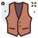 apparel, shop, vest icon