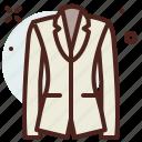 apparel, blazer, shop, woman icon