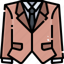 business, clothes, fashion, garment, shirt, suit, tie icon