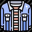 clothes, coat, denim, fashion, jacket, shirt, uniform icon