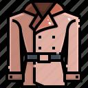 coat, denim, garment, greatcoat, jacket, overcoat, raincoat icon