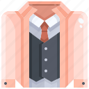 clothes, fashion, garment, shirt, suit, tie icon