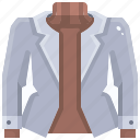 clothing, coat, fashion, garment, jacket, overcoat, raincoat icon