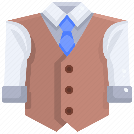 clothing, fashion, masculine, suit, vest, waistcoat icon
