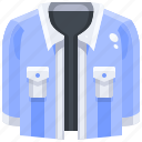 clothes, coat, denim, fashion, jacket, shirt, uniform icon
