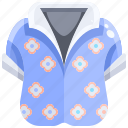 clothes, fashion, flowers, garment, shirt, summer, tropical icon