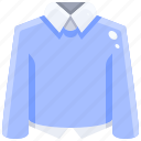 clothes, clothing, fashion, long, shirt, sleeve, thermal icon