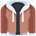 clothes, clothing, fashion, hood, hoodie, jacket, winter icon