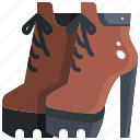 boots, footwear, heel, high, shoes icon