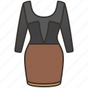 bodycon, dress, fashion, fitted, women icon