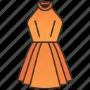 dress, elegance, fashion, halter, women icon