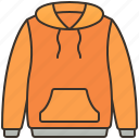 clothes, hoodie, jumper, jacket, zip icon