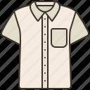 cloth, cotton, shirt, short, sleeve icon