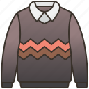 clothes, jumper, winter, sweater, knitwear icon