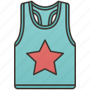 casual, cloth, sleeveless, tank, tops icon