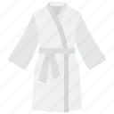 bathrobe, bathroom, cotton, hotel, shower icon