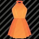 dress, elegance, fashion, halter, women