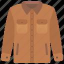 apparel, casual, fashion, jacket, sleeves icon