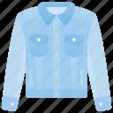 denim, fabric, fashion, jacket, jeans icon