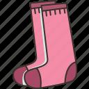 long, socks, knitted, warm, footwear