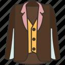 suit, vest, formal, jacket, garment