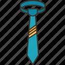 tie, formal, uniform, menswear, accessory