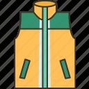 vest, sport, light, jacket, zipper