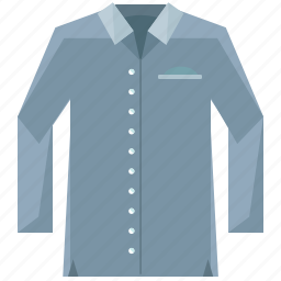 clothes, clothing, fasion, long, shirt, sleeved icon