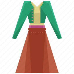 clothes, clothing, skirt, sweater, uniform icon