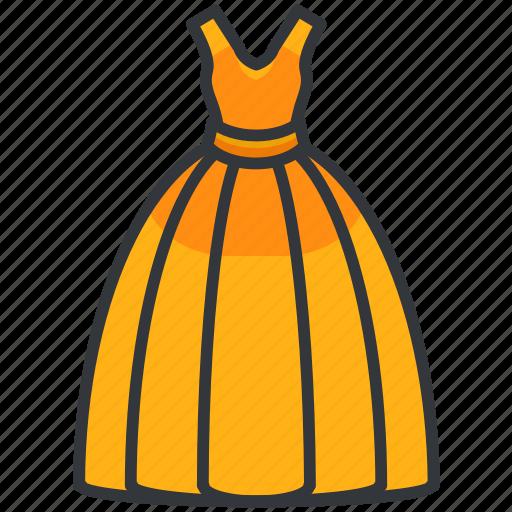 Ballgown, clothes, dress, fashion, formal, women icon - Download on Iconfinder