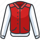 bomber, clothes, clothing, fashion, jacket icon