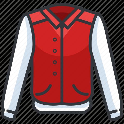bomber, clothes, clothing, fashion, jacket icon