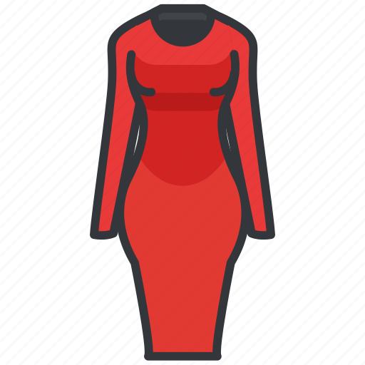 clothes, clothing, dress, formal, women icon