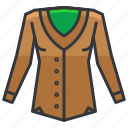clothes, clothing, fashion, jacket icon