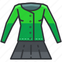 clothes, jacket, outfit, skirt icon