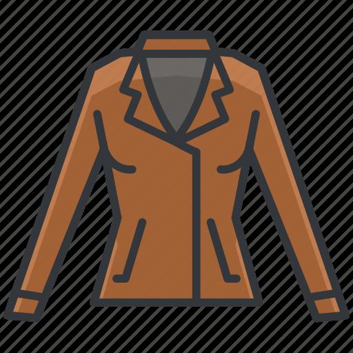 clothes, clothing, fashion, jacket, leather icon