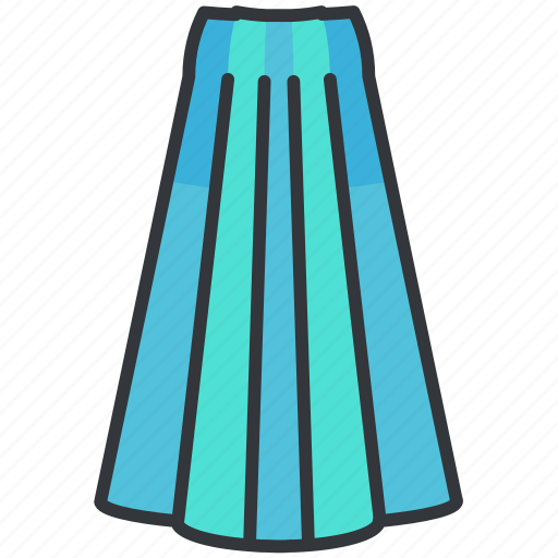Clothes, clothing, fashion, long, skirt, women icon - Download on Iconfinder