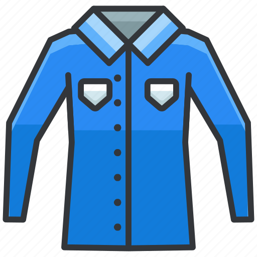 clothes, long, shirt, sleeve icon