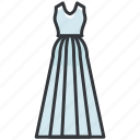 clothes, clothing, dress, formal, wedding icon