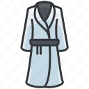 bathrobe, clothes, fashion, robe icon