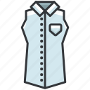 clothes, clothing, fashion, shirt, sleeveless icon