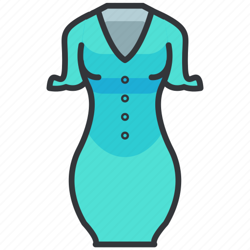 Clothes, dress, fashion, fited, sleeves icon - Download on Iconfinder