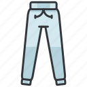 clothes, fashion, sweatpants, trousers icon